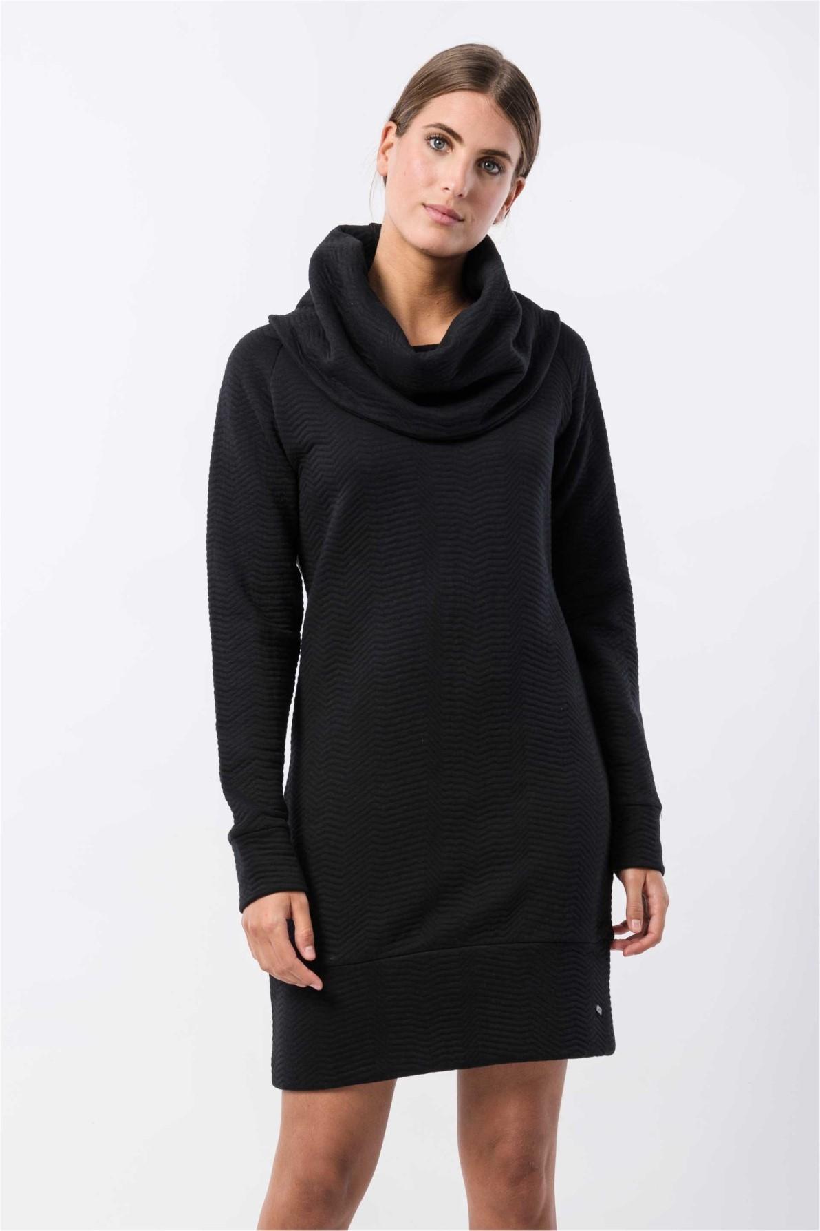 Skunkfunk jurk kalisha zwart