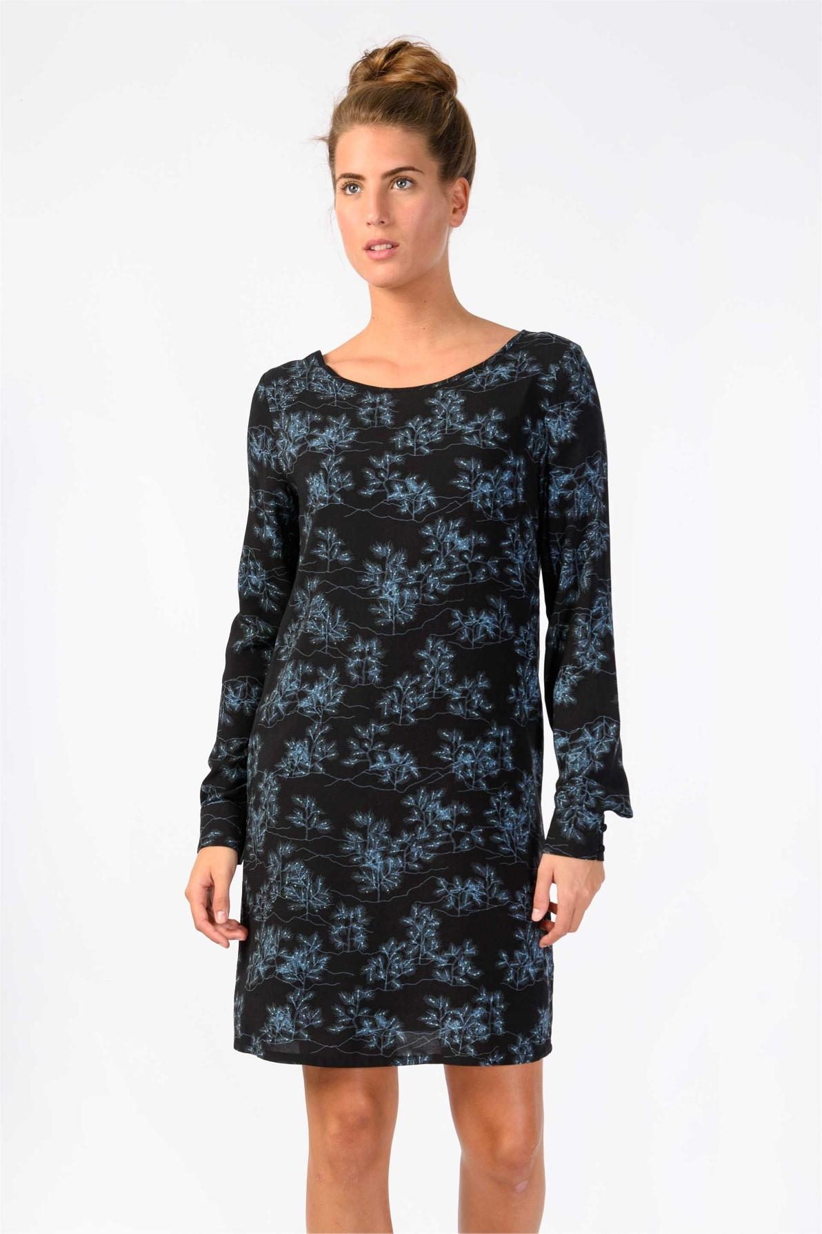 Skunkfunk jurk silbe zwart