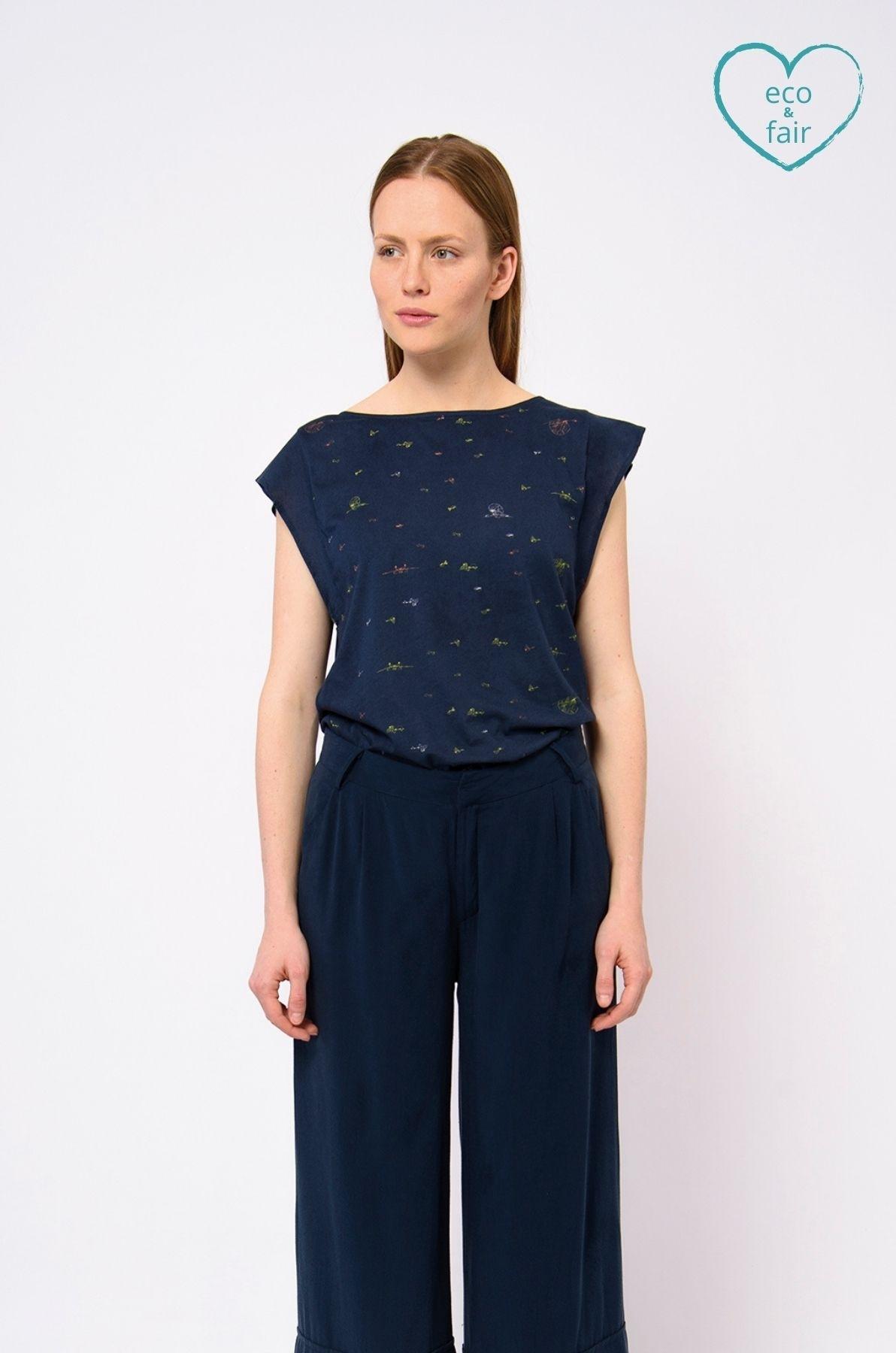Skunkfunk shirt maidalena blauw