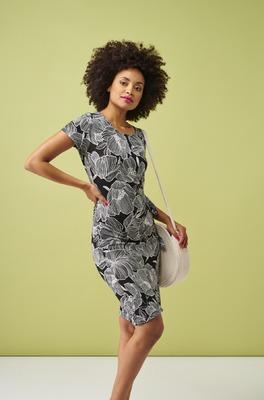 Smashed Lemon jurk  zwart wit