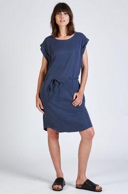 Stoffbruch jurk nara blauw