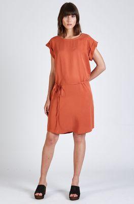 Stoffbruch jurk nara oranje