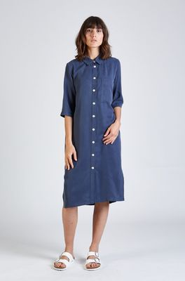 Stoffbruch jurk tessa blauw