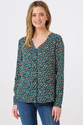Sugarhill bloes diana animial print groen