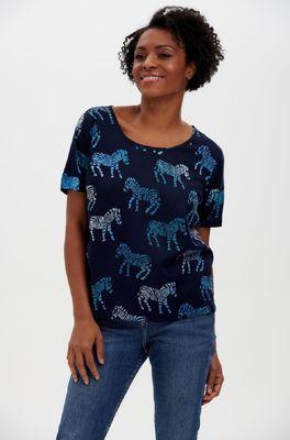 Sugarhill bloes tilda batik top blauw
