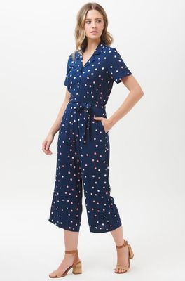 Sugarhill jumpsuit a polka batik culotte blauw