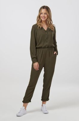Sugarhill jumpsuit iona gold tipped olijf