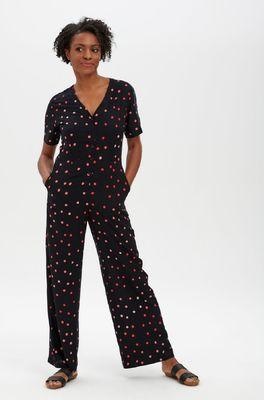 Sugarhill jumpsuit naomi batik jumpsuit zwart