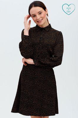 Sugarhill jurk christine shirt dress zwart