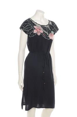 Sugarhill jurk tropical zwart