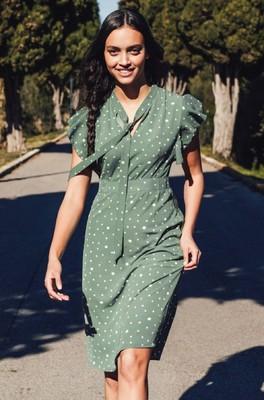 Sugarhill jurk florrie groen