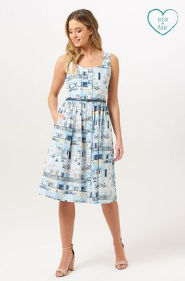 Sugarhill jurk rice blauw