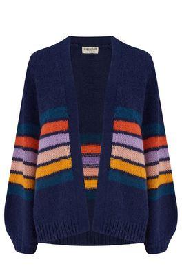 Sugarhill vest yvette cardigan blauw