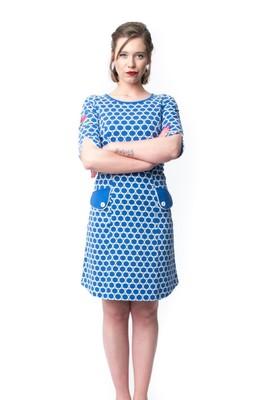 Tante Betsy jurk lynn circles blauw