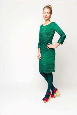 Tante Betsy jurk sterre groen