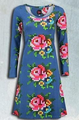 Tante Betsy jurk bibi rose blauw