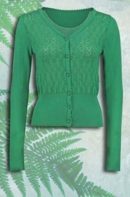 Tante Betsy vest cardigan groen