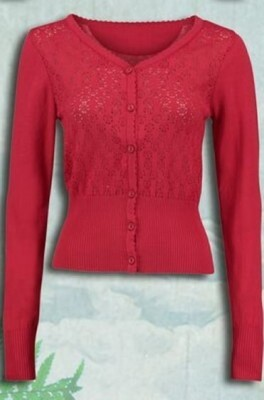 Tante Betsy vest cardigan rood