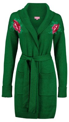 Tante Betsy vest rose groen