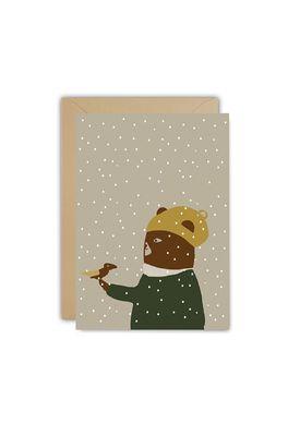 Ted & Tone kaart bird in snow