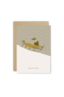 Ted & Tone kaart christmas sledge
