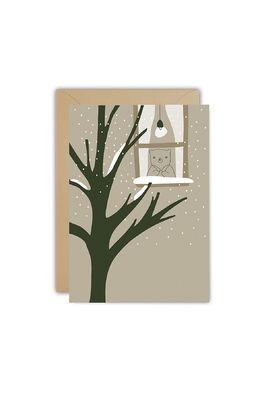 Ted & Tone kaart snow window