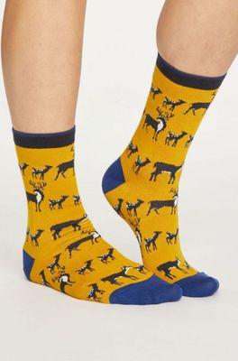 Thought sokken animal kin geel