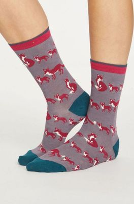 Thought sokken animal kin grijs