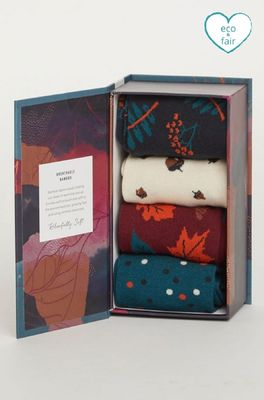 Thought sokken autumn leaves box multicolor