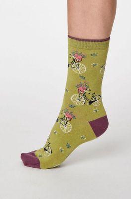 Thought sokken bicicletta groen