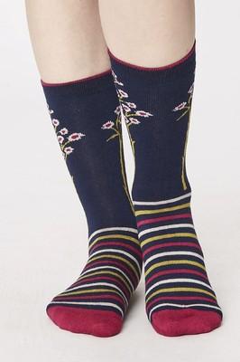 Thought sokken olivia blauw