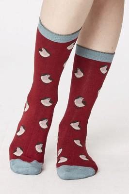 Thought sokken robin bordeaux