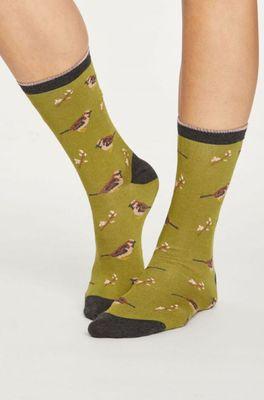 Thought sokken british bird groen