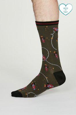 Thought sokken cosmos socks  olijf