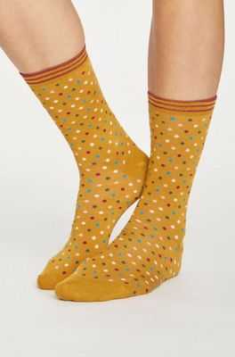 Thought sokken dotty geel