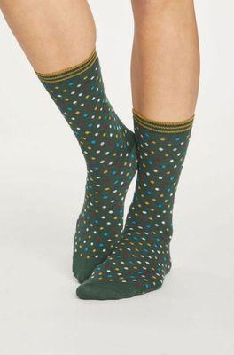 Thought sokken dotty grijs