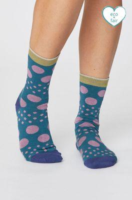 Thought sokken easy spot blauw