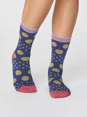 Thought sokken easy spot socks blauw