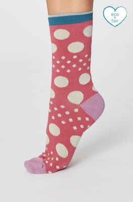 Thought sokken easy spot socks roze
