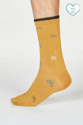 Thought sokken fergus bicycle geel