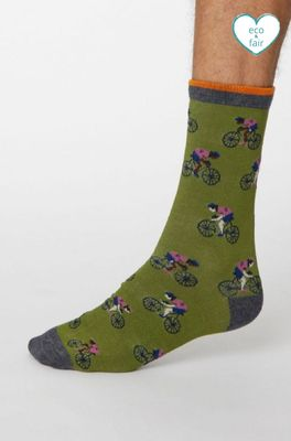 Thought sokken garra de bici bike olijf