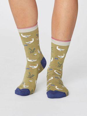 Thought sokken goosey lucy socks groen