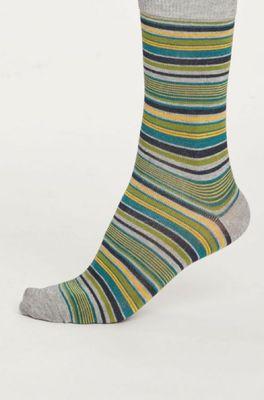 Thought sokken kenneth stripe grijs