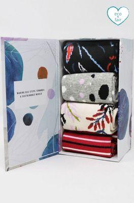 Thought sokken leatitia floral sock box multi
