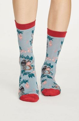 Thought sokken love bird blauw