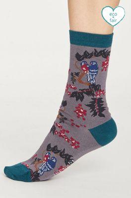 Thought sokken love bird grijs
