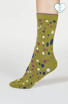 Thought sokken lucille spot olijf
