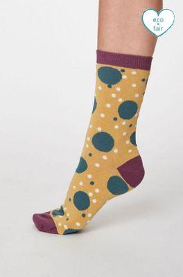 Thought sokken mamie spot geel