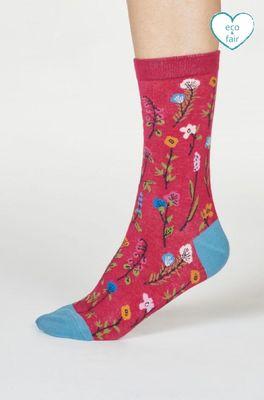 Thought sokken mondie floral roze