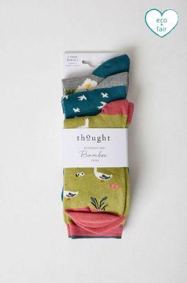 Thought sokken natura sock pack multicolor